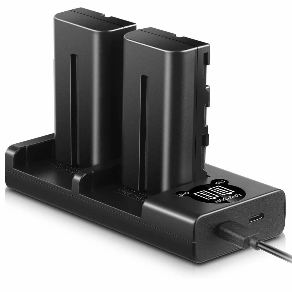 Alquiler Baterías NP-F550 Blackmagic 6K Pro + Cargador dual