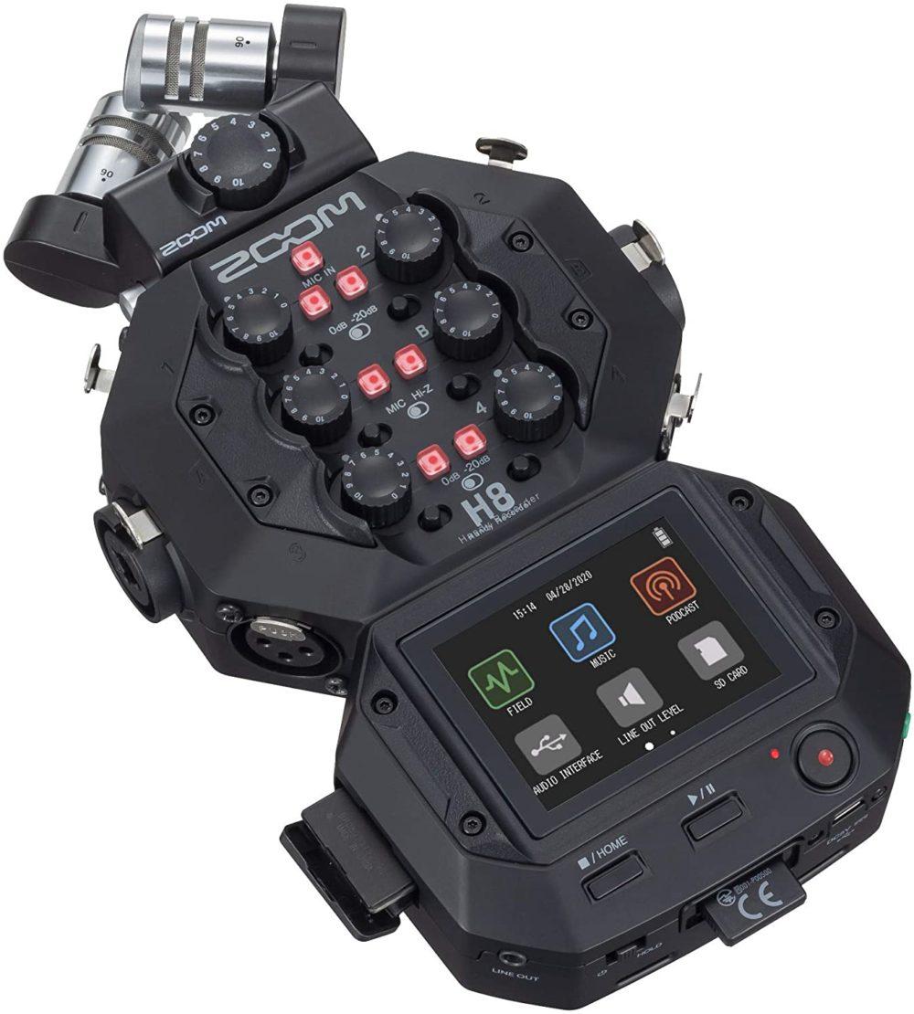 alquiler grabadora sonido zoom h8 madrid